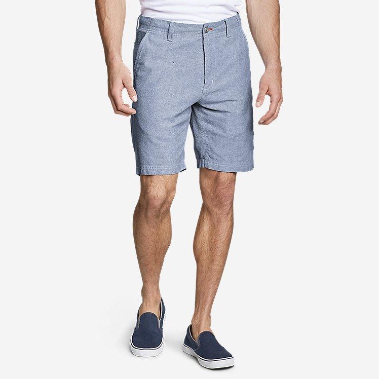 """Men's Larrabee 9"""" Linen-Blend Shorts large version"""