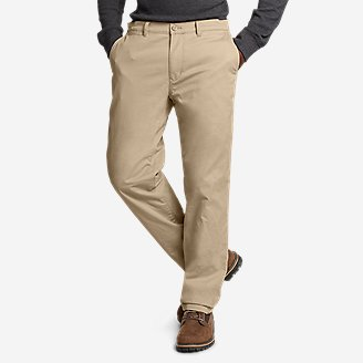 Thumbnail View 1 - Men's Flex Fleece-Lined Chinos - Slim