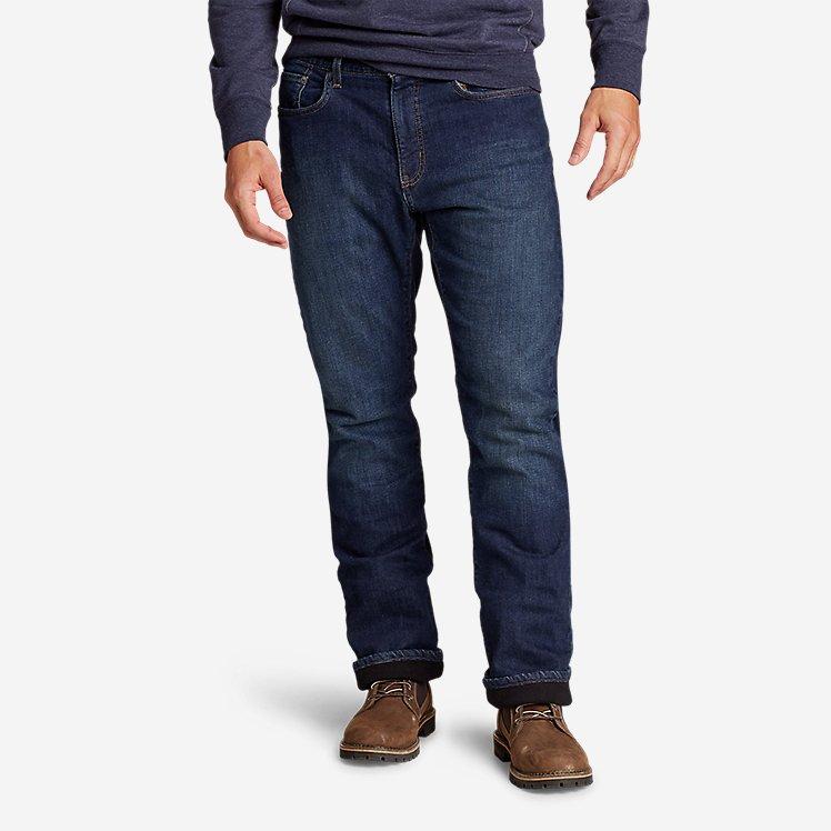Men's Fleece-Lined Flex Jeans - Straight large version