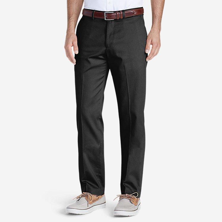 Men's Dress Performance Flat-Front Khakis - Slim large version