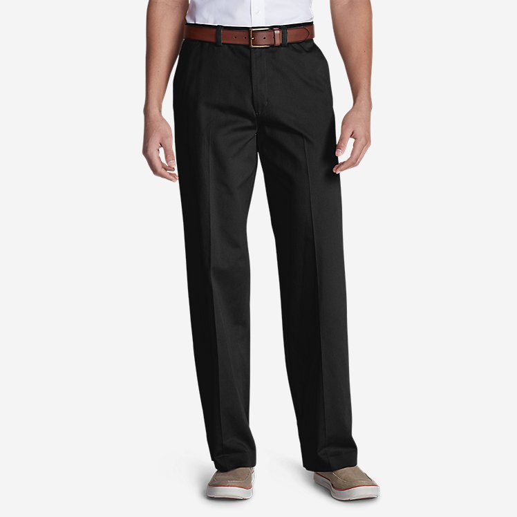 Eddie Bauer: Casual Performance Flat-Front Chinos – Relaxed $16.20