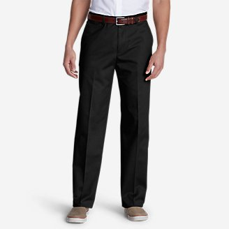 Thumbnail View 1 - Men's Dress Performance Flat-Front Khakis - Classic