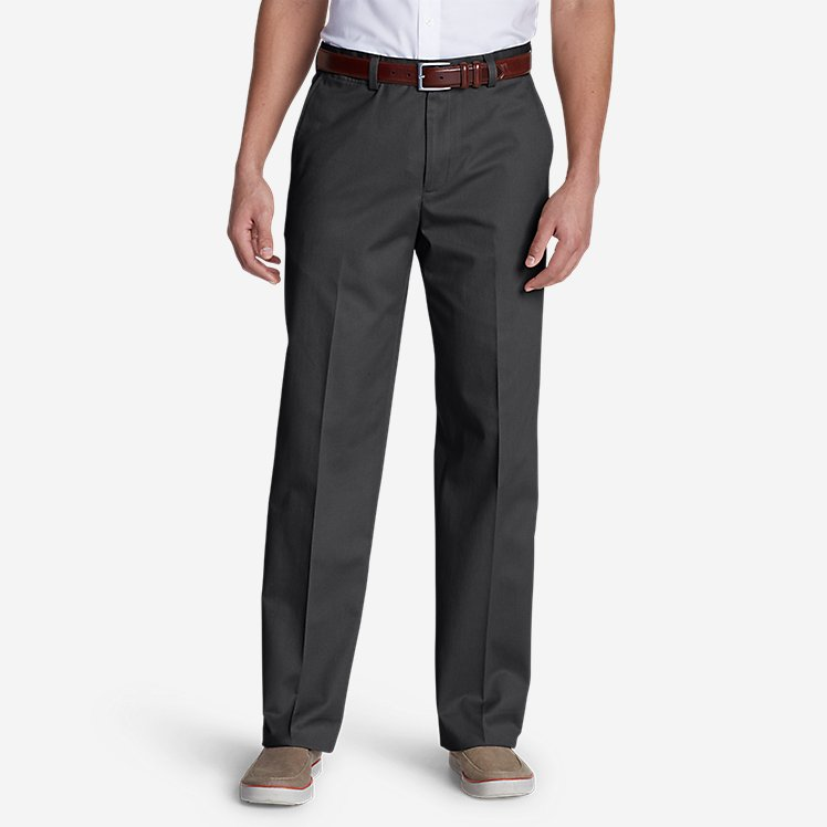 Men's Dress Performance Flat-Front Khakis - Classic large version