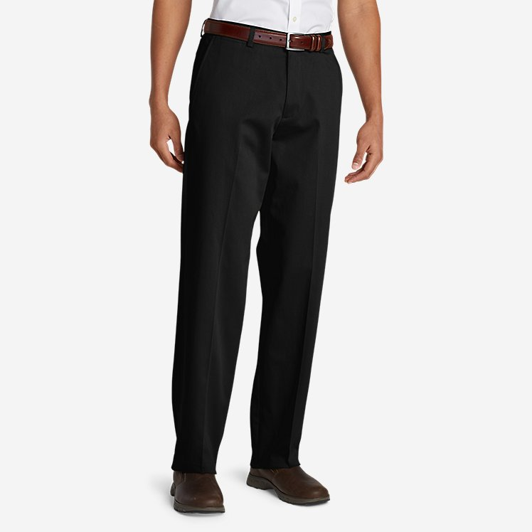 Men's Flat-Front Relaxed Khakis large version