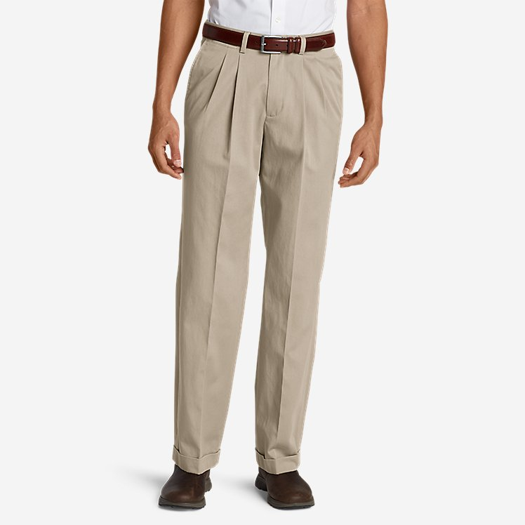 Men's Dress Performance Pleated Khakis - Relaxed large version