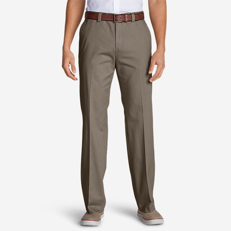 Men's Casual Performance Flat-Front Chinos - Classic large version