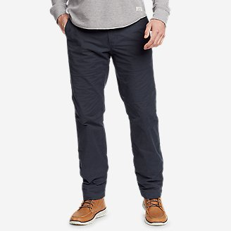 Thumbnail View 1 - Men's Voyager Flex Fleece-Lined Chino Pants