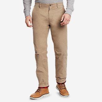 Thumbnail View 1 - Men's Voyager Flex Fleece-Lined Chino Pants