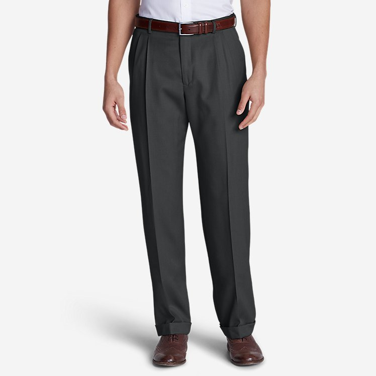 Men's Wool Gabardine Trousers - Pleated large version