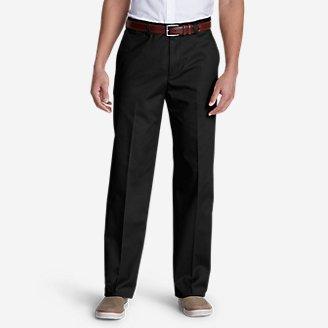 Thumbnail View 1 - Men's Dress Performance Flat-Front Khakis - Classic