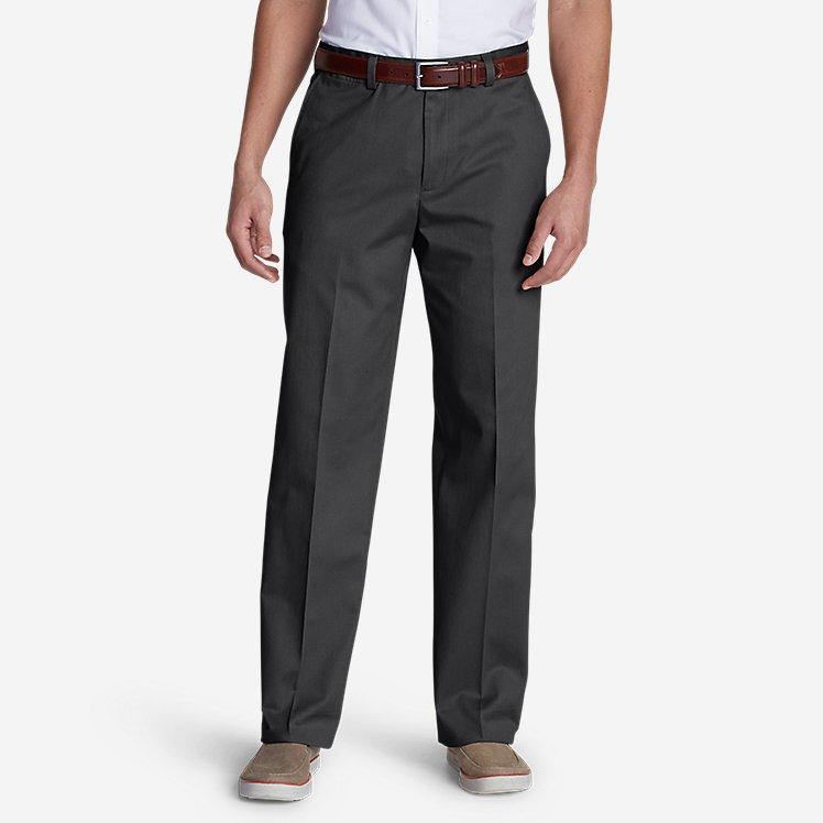 Men's Dress Performance Flat-Front Khakis - Classic large version