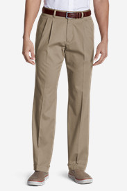 Men's Performance Dress Pleated Khaki Pants - Classic Fit