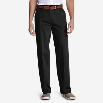 Thumbnail View 1 - Men's Casual Performance Chino Flat-Front Pants - Relaxed Fit