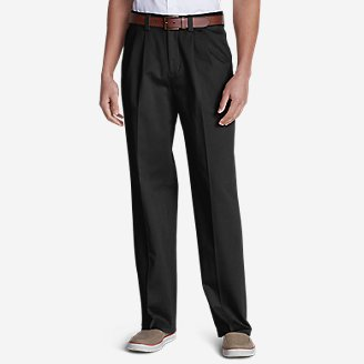 Thumbnail View 1 - Men's Wrinkle-Free Relaxed Fit Comfort Waist Casual Performance Chino Pants