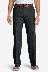 Men's Casual Performance Chino Flat-Front Pants - Classic Fit