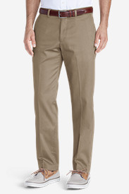 Men's Winkle-Free Slim Fit Flat-Front Performance Dress Khaki Pants