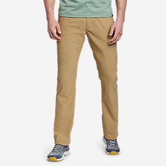e72c363b00664 Men's Performance Dress Flat-front Khaki Pants - Classic Fit | Eddie ...