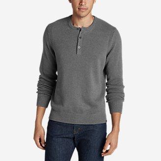 Thumbnail View 1 - Men's Signature Cotton Henley Sweater