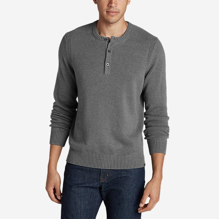 Men's Signature Cotton Henley Sweater large version