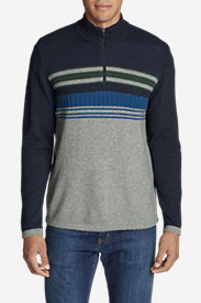 Men's Ski Stripe 1/4-Zip Sweater
