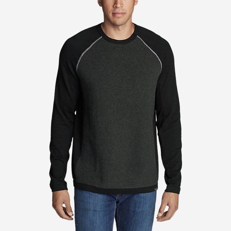 Men's Talus Textured Crewneck Sweater large version