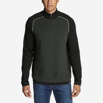 Thumbnail View 1 - Men's Talus Textured 1/4-Zip Sweater