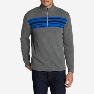Thumbnail View 1 - Men's Long-Sleeve Sidecut 1/4-Zip Sweater
