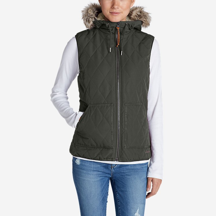 Women's Snowfurry Hooded Vest large version