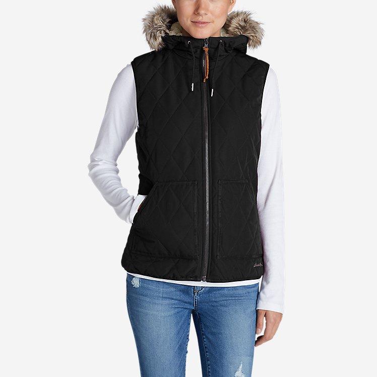 Women's Snowfurry Hooded Vest large version