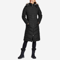 Eddie Bauer Womens Sun Valley Down Duffle Coat (Black or Atlantic)