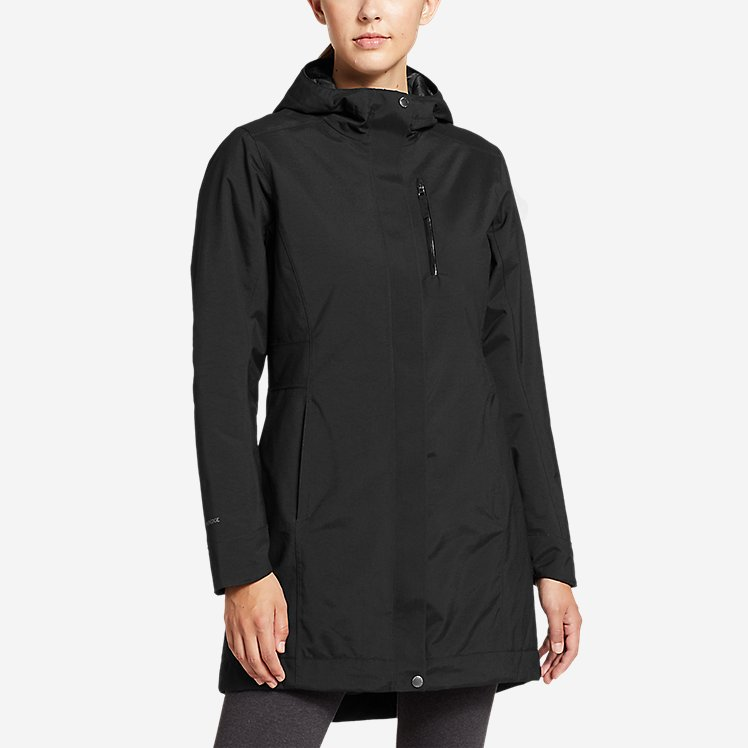 Women's Eastside Insulated Waterproof Trench Coat large version