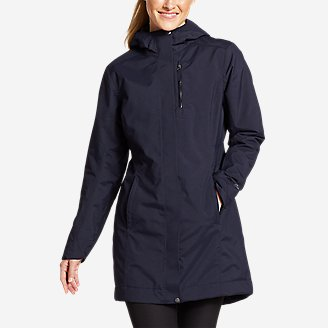 Thumbnail View 1 - Women's Eastide Insulated Waterproof Trench Coat