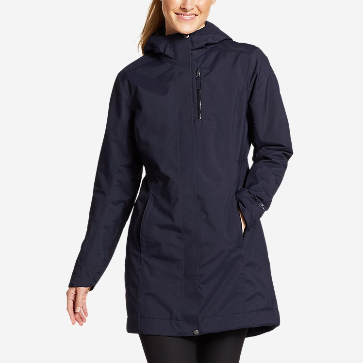 Women's Eastide Insulated Waterproof Trench Coat large version
