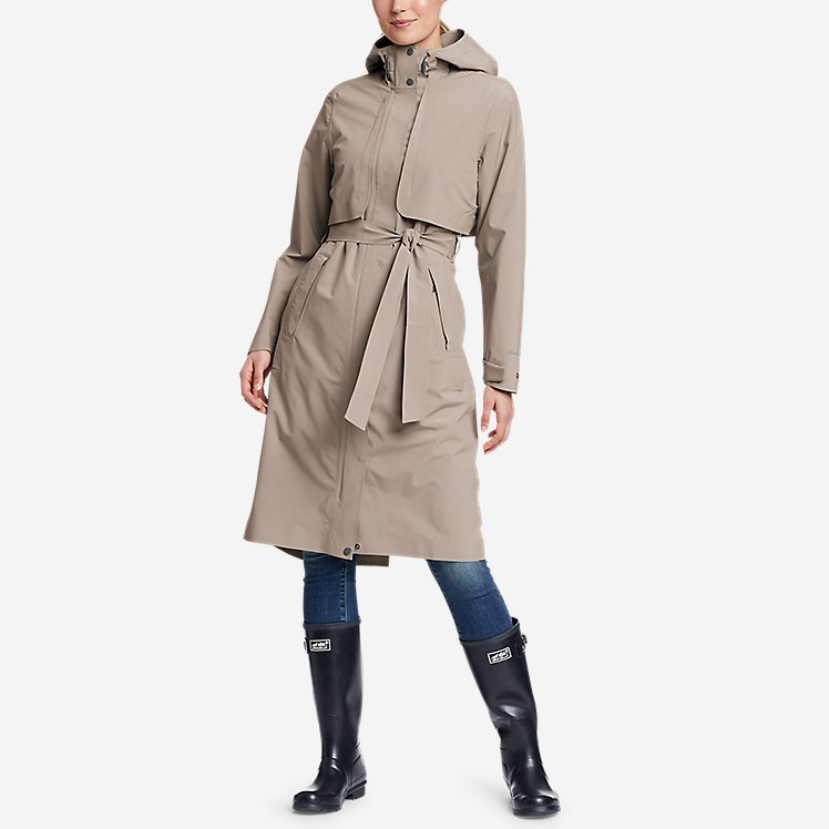 Women's Cloud Cap Stretch Trench Coat large version