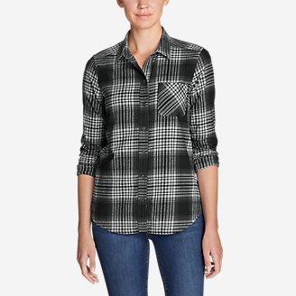 Thumbnail View 1 - Women's Stine's Favorite Flannel Shirt - Mixed Plaid Boyfriend