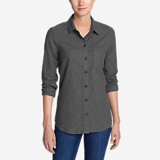 Thumbnail View 1 - Women's Stine's Favorite Flannel Shirt - Boyfriend, Heather