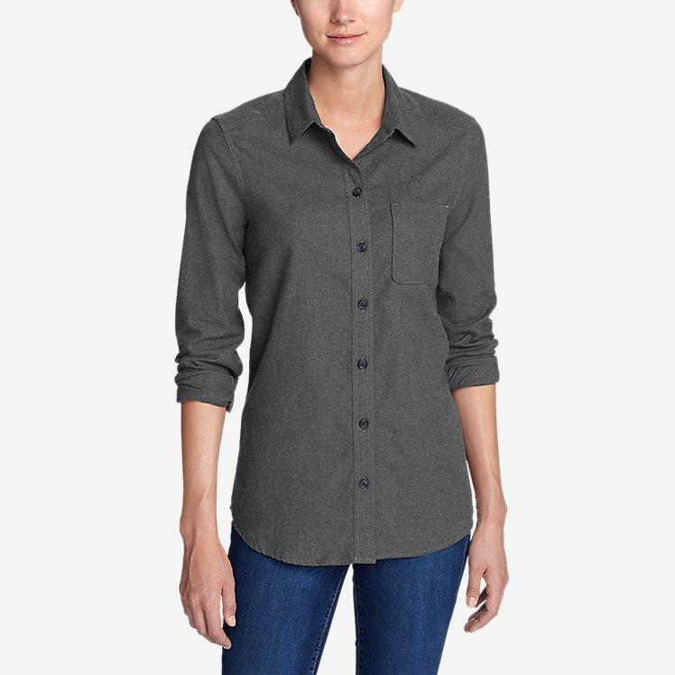 Women's Stine's Favorite Flannel Shirt - Boyfriend, Heather large version