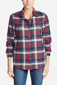 Women's Eddie's Favorite Flannel Sherpa-Lined Shirt Jacket