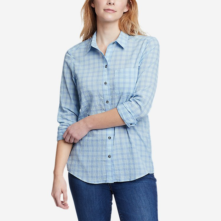 Women's Boyfriend Packable Shirt large version
