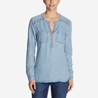 Thumbnail View 1 - Women's Tranquil Embroidered Popover Tunic