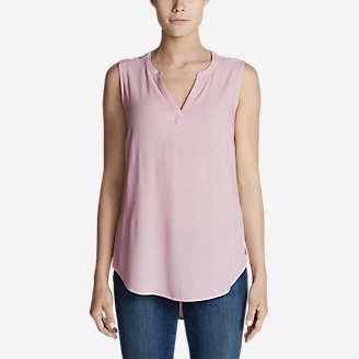 Thumbnail View 1 - Women's Thistle Sleeveless Popover Top - Solid