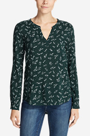 Women's Sunrise Long-Sleeve Popover Shirt - Printed