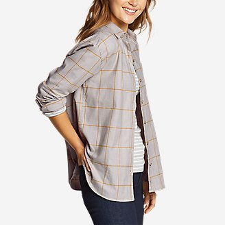 Thumbnail View 1 - Women's Stine's Favorite Flannel Boyfriend Shirt - Pattern