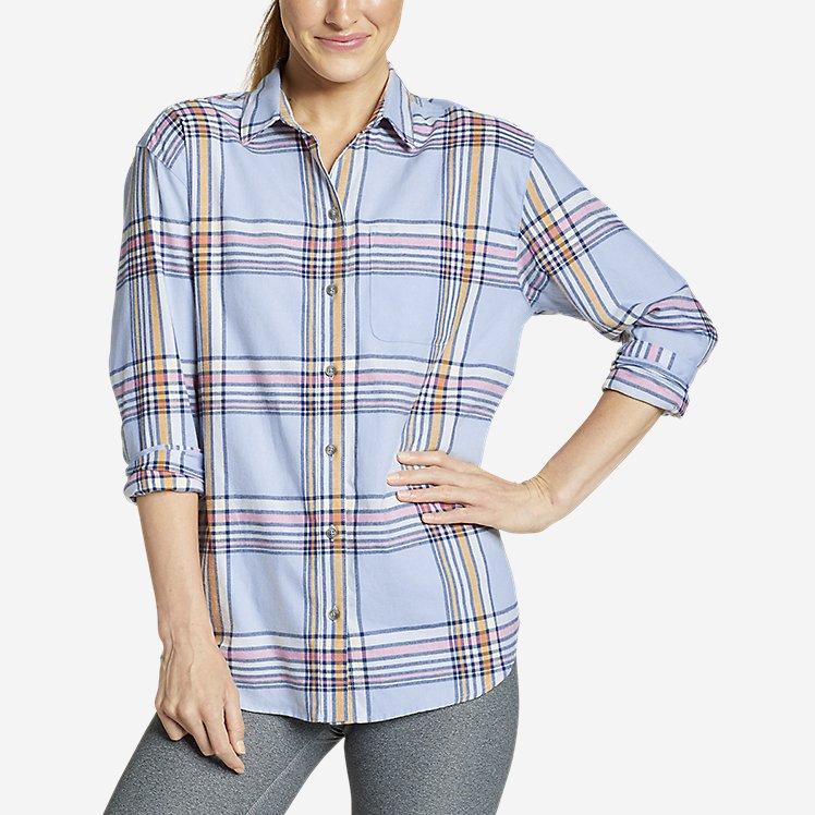 Women's Stine's Favorite Flannel Boyfriend Shirt - Pattern large version