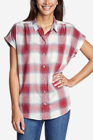Women's Tranquil Short-Sleeve Shirred Shirt - Pattern