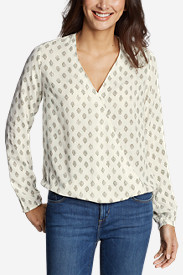 Women's Thistle Long-Sleeve Wrap Top - Print