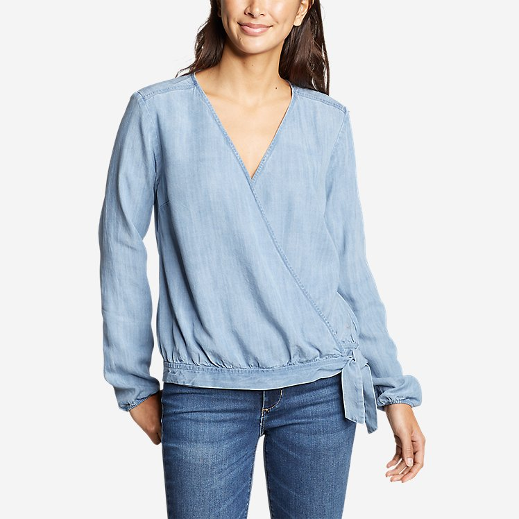 Women's Tranquil Tie Wrap Top large version