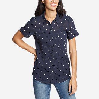 Thumbnail View 1 - Women's Packable Short-Sleeve Shirt - Boyfriend