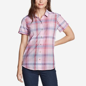 Thumbnail View 1 - Women's Packable Short-Sleeve Shirt - Boyfriend