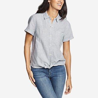 Thumbnail View 1 - Women's Emmons Vista Short-Sleeve Tie-Front Shirt - Boyfriend